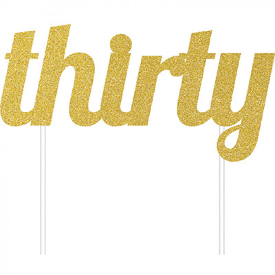 Cake Topper Thirty (Gold)