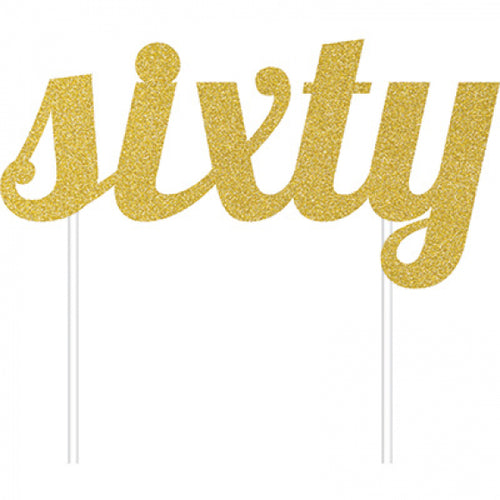 Cake Topper Sixty (Gold)
