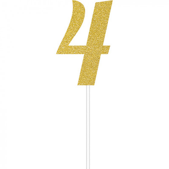 Cake Topper Number 4 (Gold)