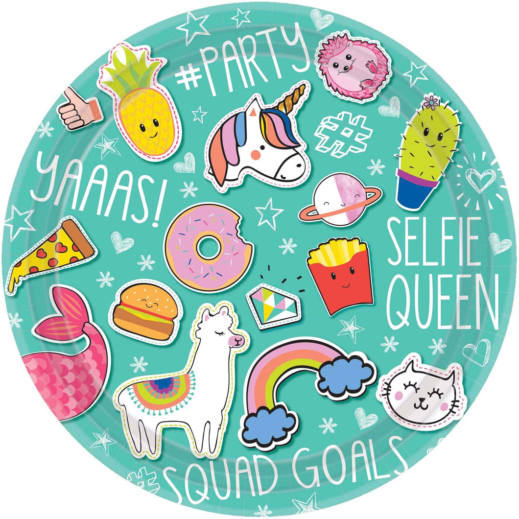 Selfie Celebration Party Plates