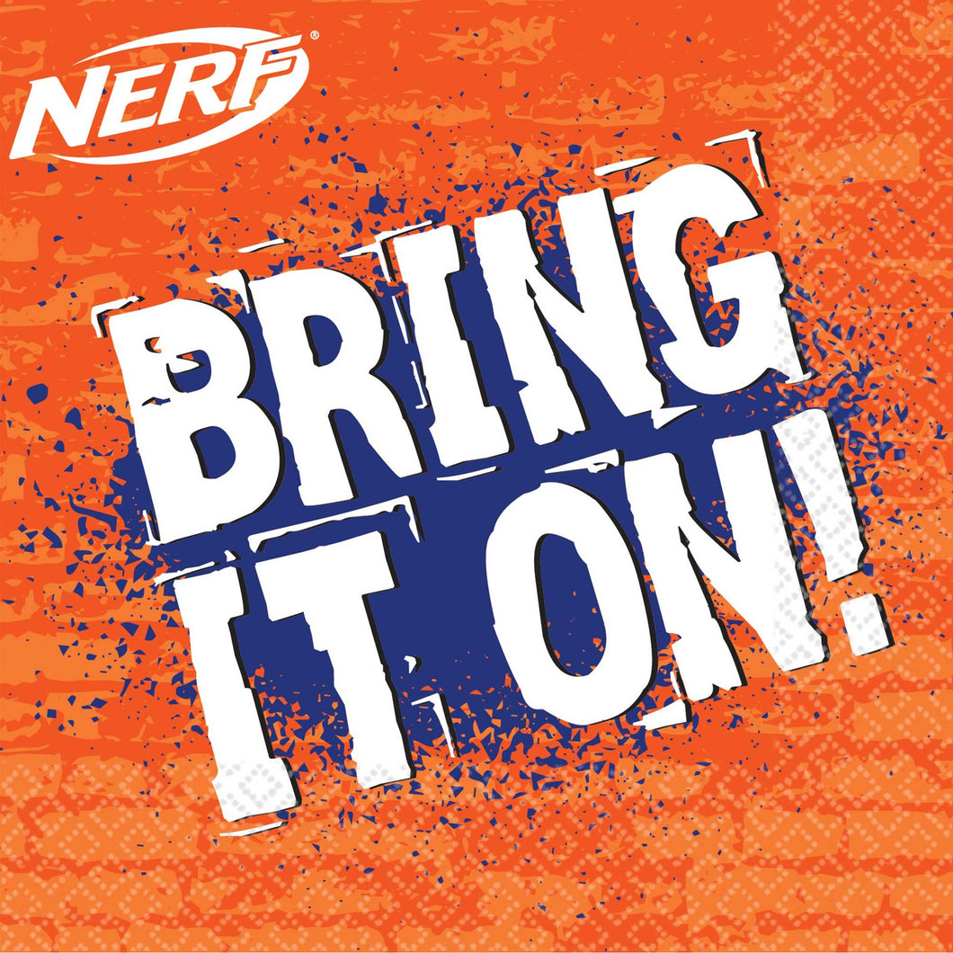 Bring It On Nerf Party Napkins