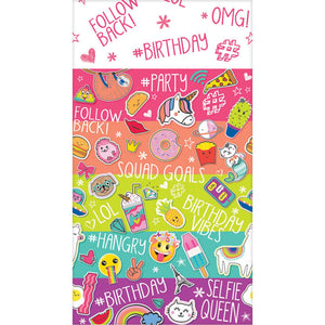Selfie Celebration Party Table Cover