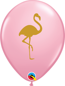 Pink Flamingo Printed Latex Balloon