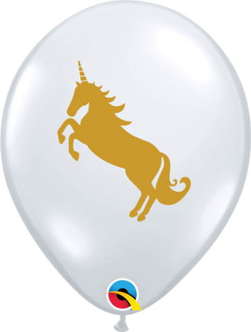 Diamond Clear Unicorn Printed Latex Balloon