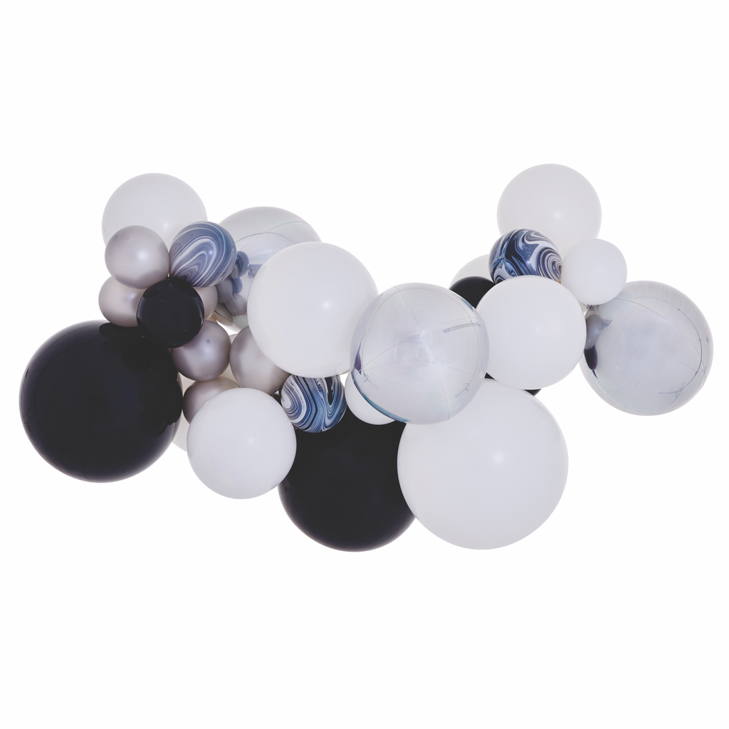 Black & White Balloon Garland Kit