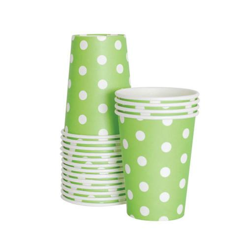 Paper Cups Apple Green