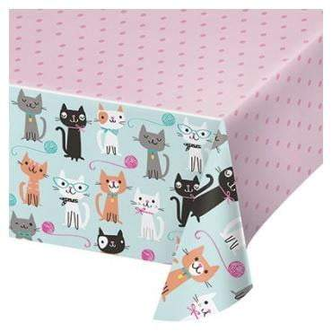 Purrfect Cat Party Table Cover
