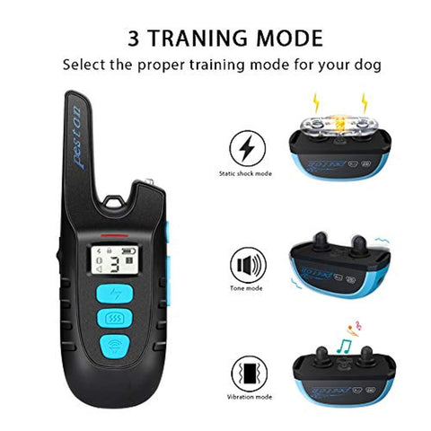 Image of PESTON Dog Training Collar with Remote Long Range up tp 1500ft Rechargable 100% Waterproof Electric Shock Vibration Beep Control Collar for Small Medium Large Dogs