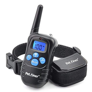 Petrainer PET998DRB Rainproof Dog Shock Collar with Remote Dog Training Collar with Beep Vibrate Shock Electronic Collar, 300 yd Remote Range