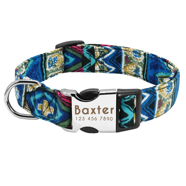 Custom Dog Collar [Personalize With Name Mobile Number And Address]