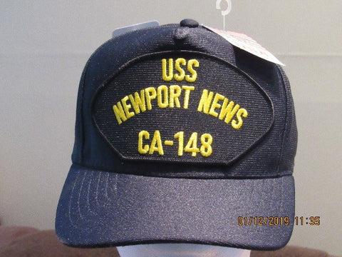 #01A- NN Ship's Ball Cap Full Back Cap - NAVY