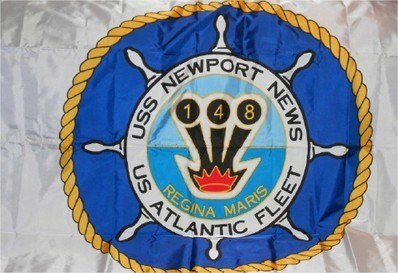 #100- USS Newport News CA-148 - Flag With Ship's Seal