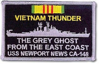 #11- USS Newport News CA-148 Vietnam Era Memorial Patch or Decal
