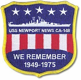 "#12-USS Newport News CA-148 ""All Hands, All Eras"" Special Reunion Association Patch or Decal"