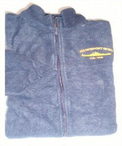 #32- USS Newport News CA-148 Full Zip Fleece Jacket