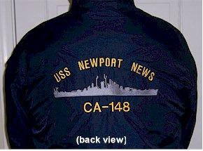 #33LL- USS Newport News CA-148 Fleece-Lined Nylon Jackets