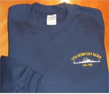 #34- USS Newport News CA-148 Sweatshirt