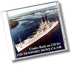 #96- USS Newport News CA-148 Cruise Books On DVD