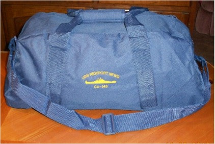 #64- USS Newport News Large Square Duffel Bag