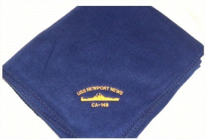 #65- USS Newport News CA-148 Fleece Lap Blanket
