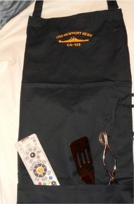 #66- USS Newport News CA-148 Two Pocket Apron