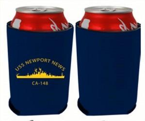 #67- USS Newport News Ca-148 Insulated Beverage Holder ( Reunion Special 2 for $3.00)