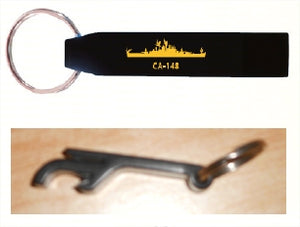#69- USS Newport News Bottle | Can Opener | Key Ring