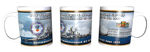 #70A- USS Newport News 11 Oz. History Ceramic Coffee Mug