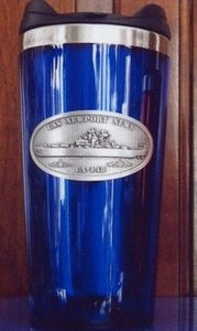 #71- USS Newport News CA-148 Stainless Steel & Blue Travel Mug