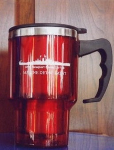 #72- USS Newport News CA-148 Marine Red Travel Mug