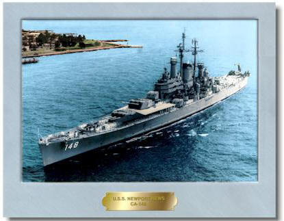 #90A- USS Newport News CA-148 Picture 1949-1962 (Original)