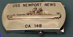"#74- Belt Buckle, Ship's Silhouette w/ ""148"" on Bow"