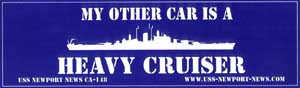 "#75- NN Bumper Sticker ""My Other Car Is a Heavy Cruiser"""