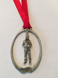 #57B- Solid Lone Sailor Pewter Ornament
