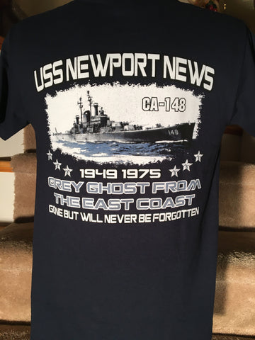 "#19 ""GREY GHOST FROM THE EAST COAST""-NAVY Tee Shirt"