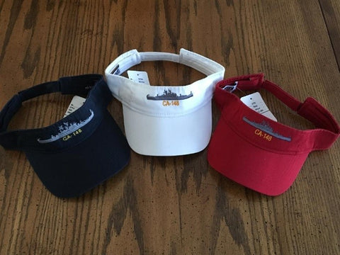 #07- Low Profile Twill Visor With USS Newport News Silhouette