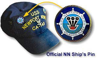 #50 #51 #52- Official USS Newport News CA-148 Ship's Seal Hat Pin, Tie Tack, & Charm
