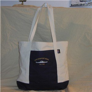 #62- USS Newport News CA-148 Tote Canvas Bag