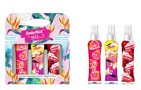 so tropical geo set body mist gift set
