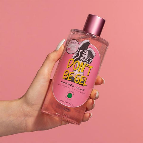 sorry not sorry dont be gel shower gel red pink