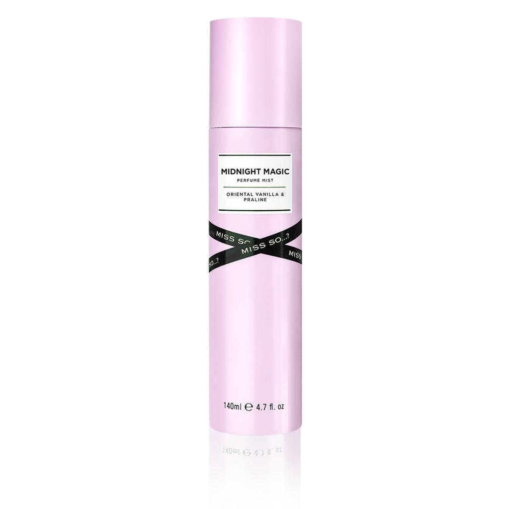 miss so...? midnight magic perfume mist 140ml, eau fraiche, eau fraiche perfume, eau fraiche spray, eau fraiche fragrance, so fragrance, eau de parfum, fragrance mist, perfume, body mist spray, perfume collection, cruelty free, body mist vanilla, eau de parfum spray, body perfume, so perfume, perfume mist