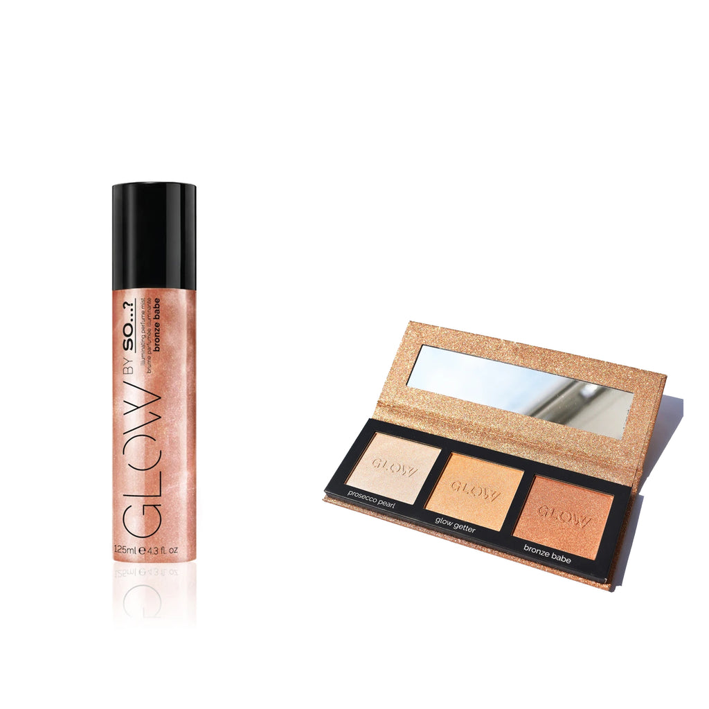 Bronze Babe Illuminating Perfume Mist + Highlighting Palette