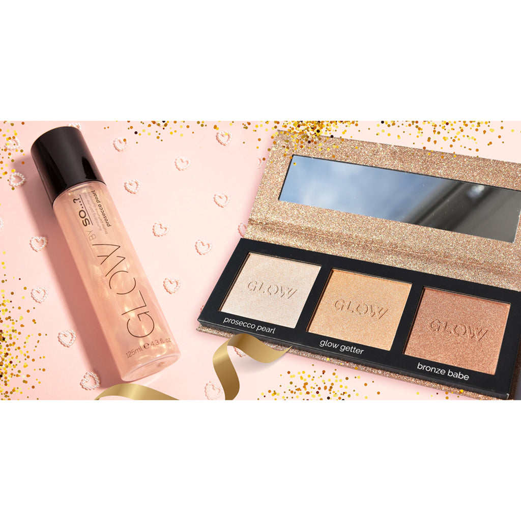Prosecco Pearl Illuminating Perfume Mist + Highlighting Palette