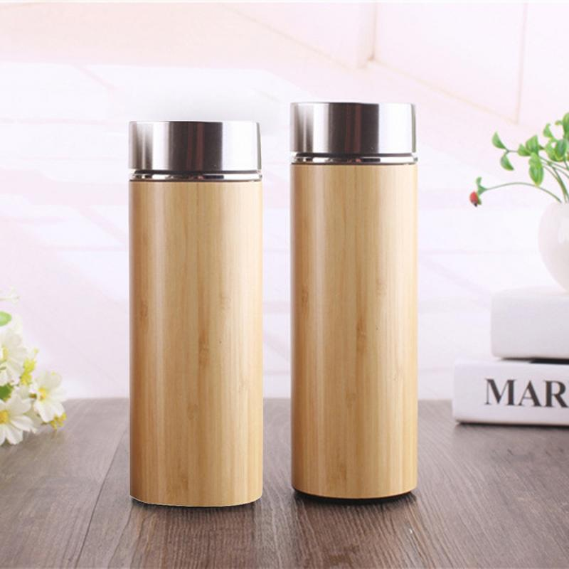 Bamboo Travel Thermos Flask