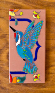 Hummingbirds: Terra Cotta & Royal Blue