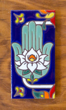 Load image into Gallery viewer, Hamsa Hand: Talavera Blue