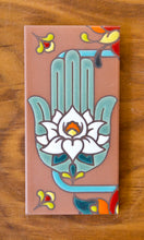 Load image into Gallery viewer, Hamsa Hand: Talavera Terra Cotta & Turquoise