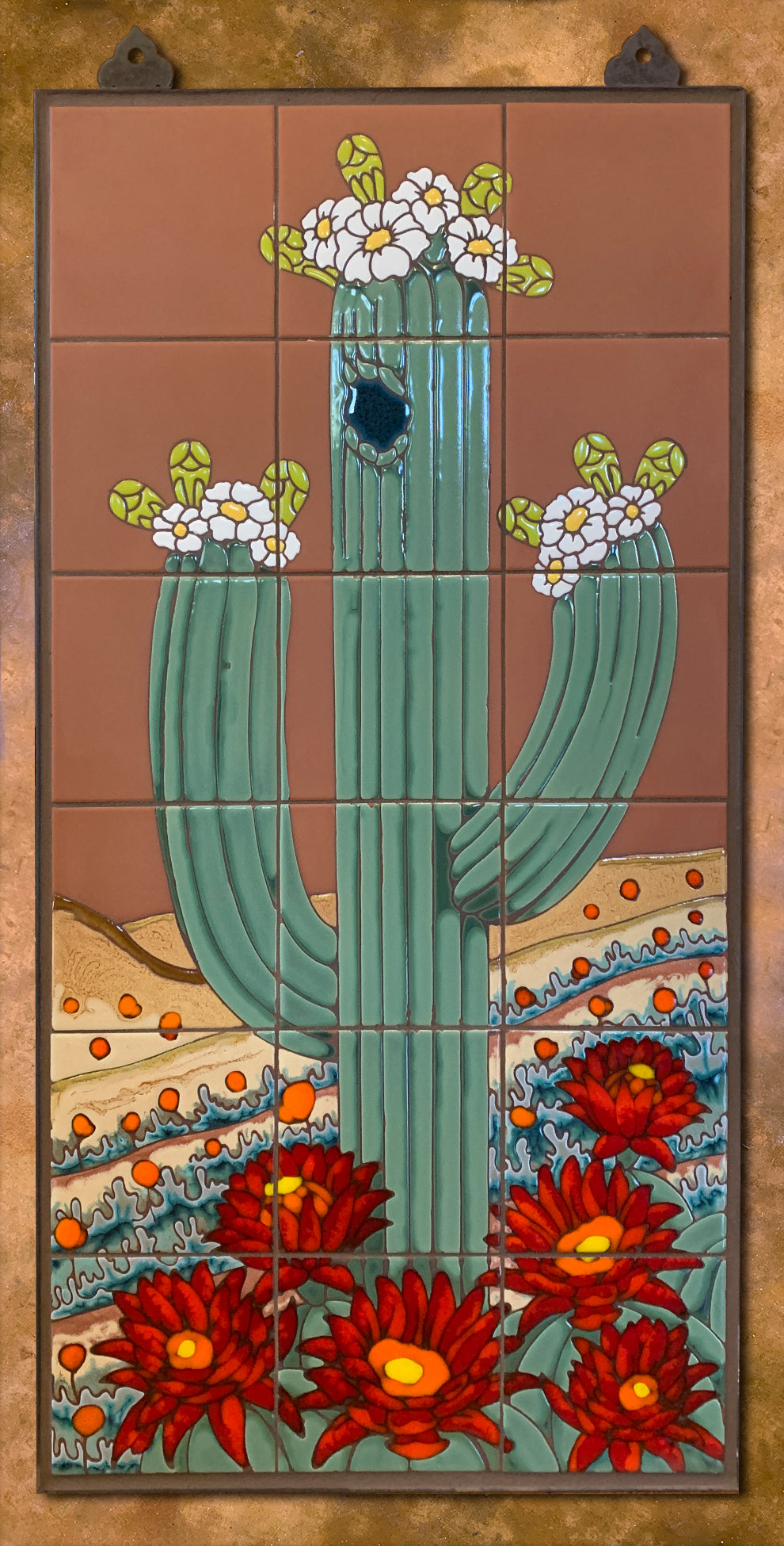 Saguaro on Terra Cotta