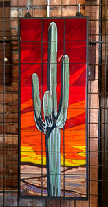 Sunset Saguaro Fine Art Mural