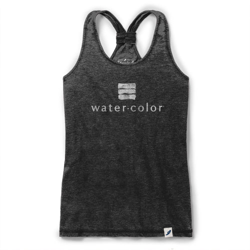 Gray Burnout Racerback Tank